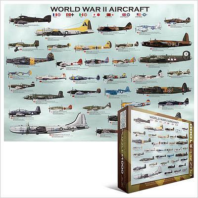 Eurographics Puzzles WWII Aircraft Collage (1000pc) -- Jigsaw Puzzle 600-1000 Piece -- #60075