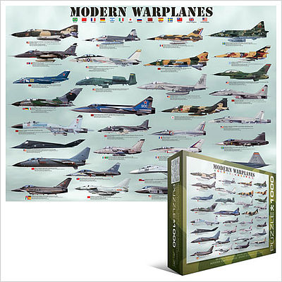 Eurographics Puzzles Modern Warplanes Collage (1000pc) -- Jigsaw Puzzle 600-1000 Piece -- #60076