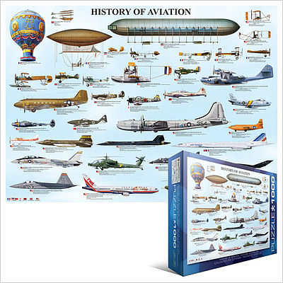 Eurographics Puzzles History of Aviation Collage (1000pc) -- Jigsaw Puzzle 600-1000 Piece -- #60086