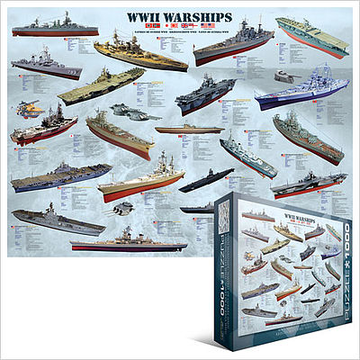 Eurographics Puzzles WWII Warships Collage (1000pc) -- Jigsaw Puzzle 600-1000 Piece -- #60133