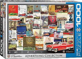EuroGraphics Cadillac Advertising Collection Collage (1000pc) Jigsaw Puzzle 600-1000 Piece #60757