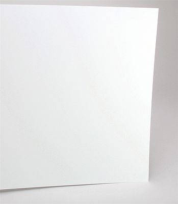 "Evergreen Styrene Sheet Plastic .015 White Scratch Building 12/"" x 6/""  3 Sheets"