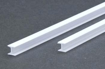 Evergreen H Column Styrene .250 6.4mm (2) -- Model Railroad Scratch Building Supply -- #287