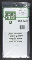 Evergreen Plastic Styrene Plain Sheet .040x6x12 (2) Model Railroad Scratch Building Supply #9040