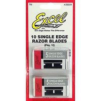 Excel Single Edge Razor Blades 9MT (10) Model and Hobby Knife Blades #20009