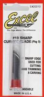 Excel Curved Edge Blades (5) Model and Hobby Knife Blade #20010