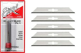 Excel #8 Straight Lightweight Utility Blades (5) (replaces XAC-208)