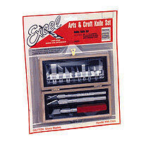 Excel WOODEN BOX HOBBY KNIFE SET