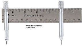 Excel Yardstick Compass w/Swivel Knife, Pin Post & Lead Tip