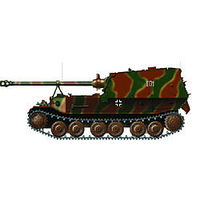 Easy-Models Ferdinand Tank 654th ABT Pre Built Plastic Model Tank 1/72 Scale #36226