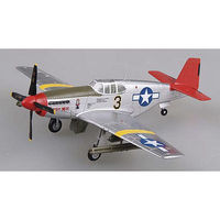 Easy-Models P-51C Mustang Red Tails Pre-Built Plastic Model Airplane 1/72 Scale #39202