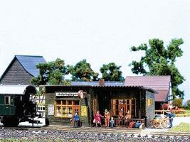 Faller Wayside Station HO-Scale Model Railroad Building #110091