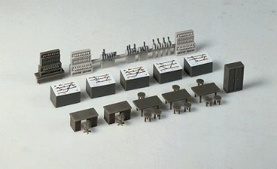 Faller Gmbh Signal Tower Interior Equipment Kit -- HO Scale Model Railroad Building Accessory -- #120118