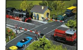 Faller Protected Level Crossing Kit HO Scale Model Accessory #120171