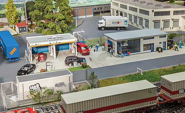 Faller 130296 Gas Station and car wash HO Scale Building Kit