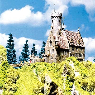 Faller Gmbh Lichtenstein Castle -- HO Scale Model Railroad Building -- #130245
