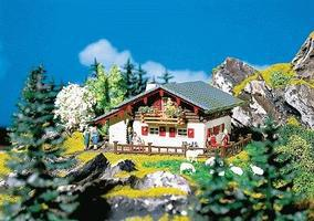 Faller Large Mountain Chalet HO Scale Model Railroad Bu #130287