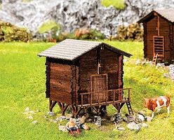 Faller Granary Weathered Kit HO Scale Model Railroad Building #130298