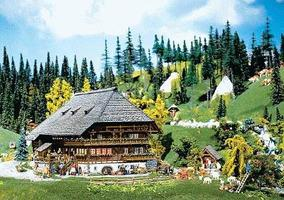 Faller Black Forest Farmyard with Accessories HO Scale Model Railroad Building #130366
