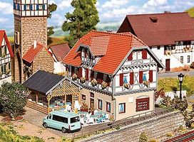 Faller Sonne Inn with Summer House Kit HO Scale Model Railroad Building #130438