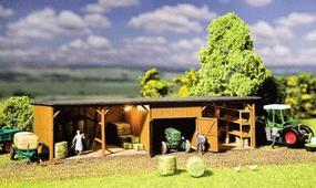 Faller Hay Storage Shed with Workshop Kit HO Scale Model Railroad Building #130523
