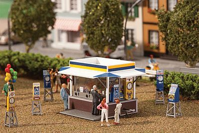 Faller Gmbh Carnival Booth & Machines Kit -- HO Scale Model Accessory -- #140477