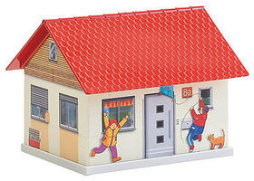 Faller Single-Family Home Paintable Fold & Snap Kit HO Scale Model Railroad Building #150190