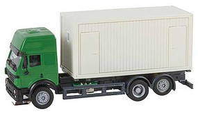 Faller Mercedes-Benz SK94 Truck with 20 Construction Container Load - Car System Green