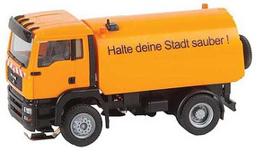Faller 2000-2006 MAN TGA Street Sweeper - Car System Orange, German Lettering