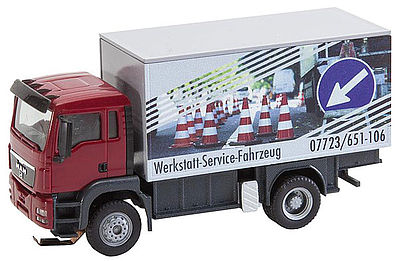 Faller Gmbh MAN TGS Repair Shop Truck -- HO Scale Model Railroad Vehicle -- #161554