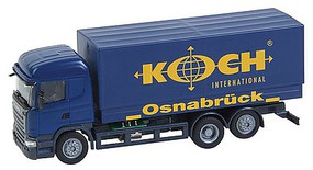 Faller Scania R 13 HL Box-Body Delivery Truck - Car System Koch (blue, yellow, German Lettering)