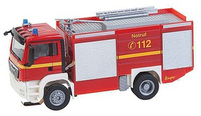 Faller MAN TGS TLF Fire Engine - Car System Fire Department (red, white, yellow, German Lettering)