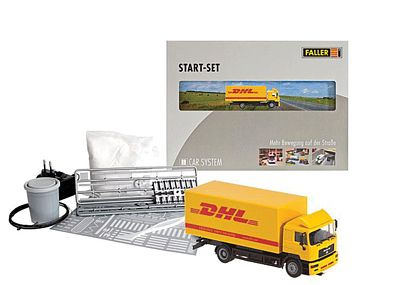 Faller Gmbh Digital 3.0 Starter Set MAN F2000 Evolution Box Truck (DHL) -- HO Scale Vehicle System -- #161607