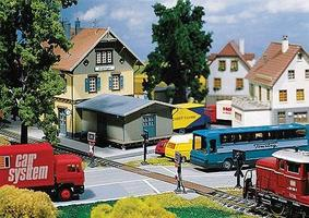 Faller Highway Grade Crossing for a railroad car system HO Scale Model Railroad Accessory #161657