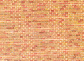 Faller (bulk of 10) Red Brick Embossed Panel Building Material (bulk of 10) HO Scale Model Railroad Supply #170608