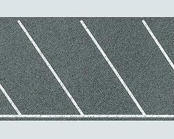 Faller Diagonal Parking Space Sheet w/Markings HO Scale Model Railroad Scenery #170634