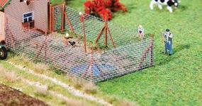 Faller Wire Mesh Fence with Wood Poles HO Scale Model Railroad Building Accessory #180414