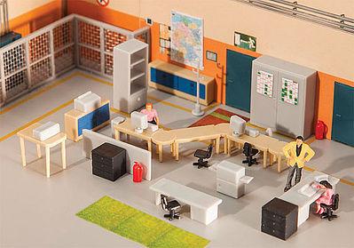 Faller office furnishings set ho scale model railroad for Scale model furniture