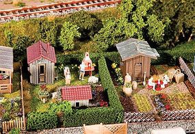 Faller 2 Gardens with Small Sheds Kit HO Scale Model Railroad Building #180494