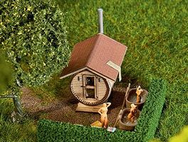 Faller Barrel-Shaped Sauna House HO Scale Model Railroad Building #180607