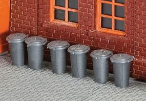 Faller Trash Cans Kit (10 Pack) HO Scale Model Railroad Building Accessory #180905