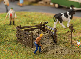 Faller Manure Heap Pile w/ Bin HO Scale Model Railroad Building Accessory #180920