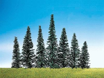 Faller Gmbh Assorted Fir Trees (50) -- Model Railroad Tree -- #181464