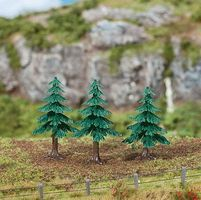 Faller Fir Trees 5cm (3) Model Railroad Tree #181602