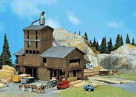 Faller Sawmill (Weathered Model Kit) N Scale Model Railroad Building #222181
