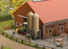 Faller Silage/Fodder Silos Kit N Scale Model Railroad Building Accessory #222214