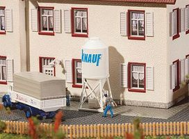 Faller Construction Site Cement Silos Kit N Scale Model Railroad Building Accessory #222215