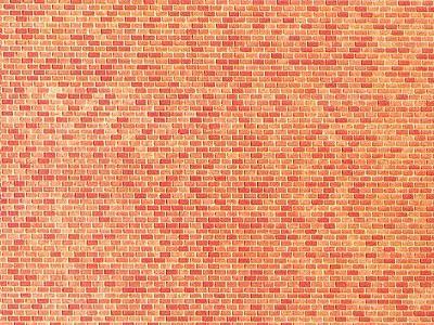 Faller Bulk Of 10 Red Brick Textured Wall Cards Bulk Of