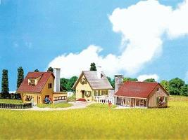 Faller Three Modern Houses N Scale Model Railroad Building #232221