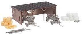 Faller Hay Storage Barn Kit with Accessories N Scale Model Railroad Building #232366